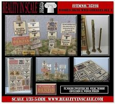 Reality In Scale 35228 Wooden signs WWII - Germany Set #2 - 1:35 diorama access.
