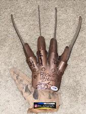 Nightmare On Elm Street Cast Signed Glove Johnny Depp Robert Englund Signed