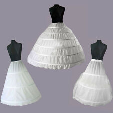 New Hot White Bridal Wedding Skirt Dress Prom Petticoat Underskirt Crinoline