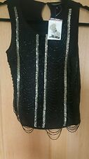 TOPSHOP SEQUIN VEST TOP SIZE 10 BRAND NEW WITH TAGS