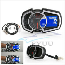 13000RPM Motorcycle LCD Speedometer Odometer KMH MPH RPM Speed Fuel Gauge 9-16V