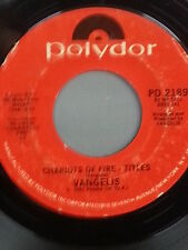 """VANGELIS 45 RPM """"Chariots of Fire - Titles"""" & """"Eric's Theme"""" VG condition"""