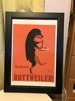 Rottweiler Brand by Ken Bailey Lithography Limited Edition signed Framed