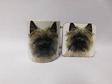 Cairn Terrier Dog Mug and Coaster Set