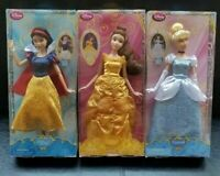 NEW Disney Store 2013 Princess Doll Lot Set Snow White Cinderella Belle RETIRED