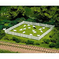 ATLAS 779 HO Scale 12 White Sheep 1 Black Model Railroad Animals Set FREE SHIP