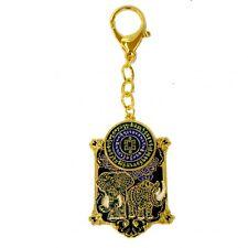Feng Shui Blue Rhino Elephant Anti Burglary Keychain Amulet for Flying Star #7