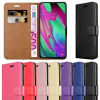 Leather Wallet Phone Cover Case For Samsung Galaxy J4+Plus J6+Plus A6 A7 A9 2018