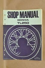 Vtg Honda 1975 TL250 Trials Bike Repair Service Maintenance Shop Factory Manual