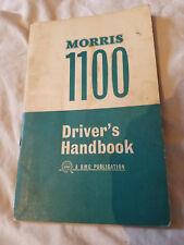 MORRIS 1100 DRIVER'S HANDBOOK - MORRIS MOTORS LIMITED   Fairly Good Condition