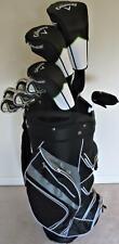 Mens Callaway Complete Golf Set Driver, Wood, Hybrid Irons Putter Bag Stiff Flex