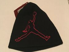 Jordan Jumpman Logo Black & Red Youth Boy Girl Winter Hat Beanie Cap 8/20 NWT