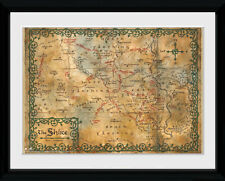 The Hobbit Map Film LOTR Fantasy Framed Poster Print Photo 40x30cm | 12x16 in