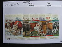 NEW ZEALAND domestic cattle set Sc 1406-11 MNH