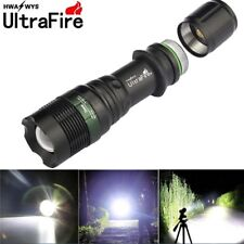 Tactical Military Flashlight 18650 Torch 50000LM Zoomable LED T6 LED Light Lamp
