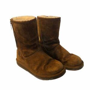 UGG Boots 6 Womens Australia Mayfaire 5116 Suede Zip Chestnut (western brown)