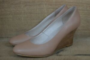 Witchery Angelica Wedge Ginger Leather Size 39 - VGC - Free Postage