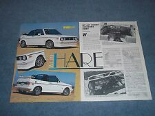 "1983 Volkswagen Rabbit Convertible Vintage Article ""White Hare"""