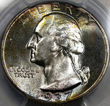 1937 Washington Quarter Dollar PCGS GEM BU MS-65... A Blazer with Nice COLOR!!!!