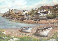 Kyleakin, Village, Isle of Skye Hebrides, Scotland - United Kingdom Art Postcard
