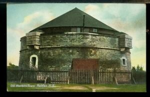 Old Martello Tower Halifax NS used post card Canada