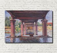 "ALFRED SISLEY FINE ART PRINT UNDER THE BRIDGE HAMPTON COURT Impressionist 16x24"""
