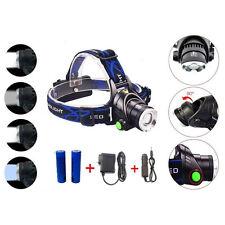Cree LED Scheinwerfer Taschenlampe Kopflampe Stirnlampe wiederaufladbar  XML-T6