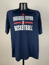 Men's Adidas Indiana Fever Blue Short-Sleeve Graphic Logo Shirt WNBA NWOT Small