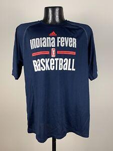Men's Adidas Indiana Fever Blue Short-Sleeve Graphic Logo Shirt WNBA NWOT Small