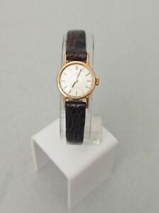 OMEGA Geneve  Caliber 458 Ladies Watch Leather Strap Excellent Vintage