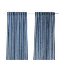 AINA Curtains, 1 pair 145x250 cm Beige,  Blue, Dark-Grey- IKEA -  Brand New