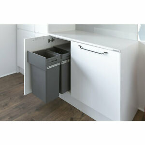 HAFELE WASTE BOSS DUO PULL-OUT KITCHEN BIN ANTHRACITE GREY 2x32LTR 1Y BRAND NEW