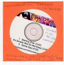 (FA417) Nikki O'Neill, It's Simple (But It's Not Easy) - 2007 DJ CD