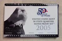 2005 US MINT SILVER QUARTER PROOF SET - Complete w/ Original Box and COA