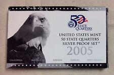 2005 US MINT SILVER QUARTER PROOF SET - Complete w/ Original Box and COA