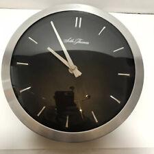 New ListingSeth Thomas Wall Clock Modern Silver Chrome Metal 8� Battery Operated