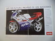 advertising Pubblicità 1990 MOTO APRILIA 125 AF1 AF 1 FUTURA
