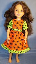 """Spidery Halloween dress for 18"""" Best Friends Club BFC ink MGA dolls"""