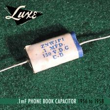 1956-1958 Phone book: Wax impregnated Paper & FOIL .1mf cap for fender guitars