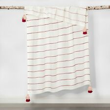 Opalhouse Stripe Tassel Trim Throw 50 x 60 Valentines