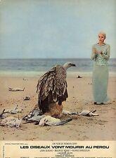 JEAN SEBERG LES OISEAUX VONT MOURIR AU PEROU 1968 VINTAGE LOBBY CARD