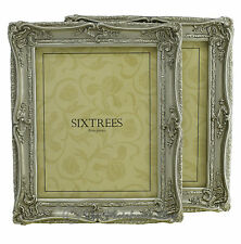 """TWO Shabby & Chic Vintage Ornate Antique Silver Photo frames for 10""""x8"""" Pictures"""