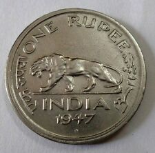 Very Rare 1 RUPEE 1947 COIN KING GEORGE VI FINE CONDITION