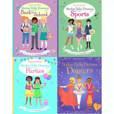 Fiona Watt Sticker Dolly Dressing Series Collection 4 Books Set(Parties,Dancers)