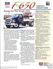 Truck Brochure - Ford - F-650 - Super Duty Straight Frame - 2004 (T1310)