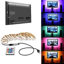 DC 5V USB TV RGB LED Tira 5050 SMD Luces Kit de iluminación posterior + Control Remoto
