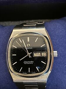 Omega Seamaster TV Dial Day Date Black