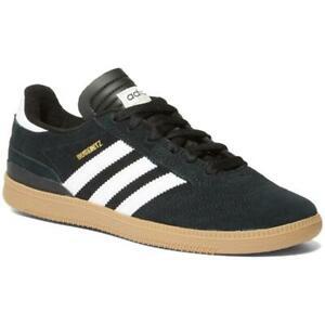 NEW Boys Adidas BUSENITZ J Skate Shoes Black/White/Gold Metallic Size 12K Kids