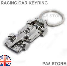 Racing Car Chrome Keyring - Key Chain - Metal - UK Fast Post  F - 1