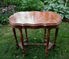 VINTAGE OCCATIONAL SIDE TABLE WITH INLAID TOP
